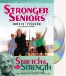 Stronger Seniors Stretch and Strength DVDs- 2 disc Chair Exercise Program- Stretching, Aerobics,