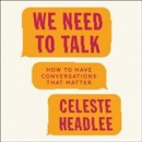 We need to talk [CD book]